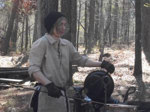 Blacksmithing was a main attraction