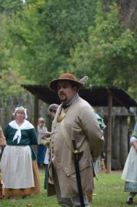 Colonel Bogart accepting his commission, praising the militia and the willingness of its members to do whatever it takes to further the goals of the historic site and do it with willingness and humor.